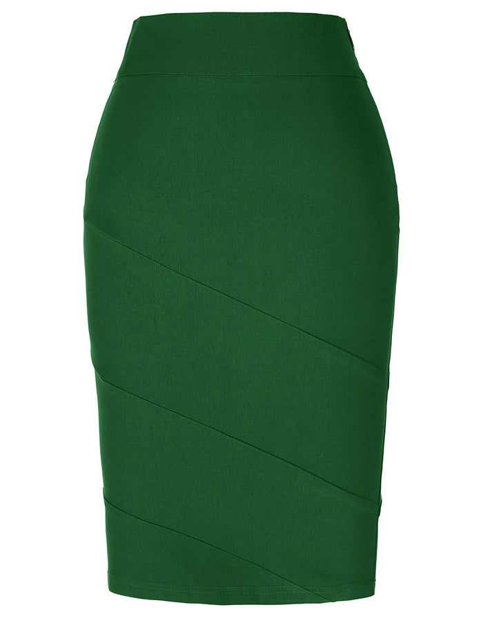 Kate Kasin Occident Women's Ol High Stretchy Hips-wrapped Pencil Skirt Beauty.uk