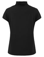Women Casual Short Sleeve Turtleneck Slim Tops T-shirt Blouses