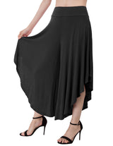 KK Women's Comfy Cropped Length Elastic Waist Wide Leg Pants Palazzo Capri Pants