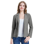 Kate Kasin Women's One-Button Blazer Coat Office OL Long Sleeve Notch Lapel Stylish