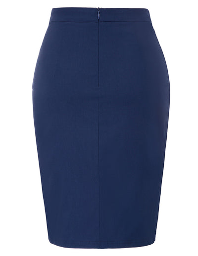 Casual Skirt Office Formal Business Summer Womens Pencil Hips-wrapped High waist