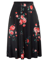New Womens High Waist A-line Flared Long Skirt Winter Midi Skirt Warm Wool Maxis