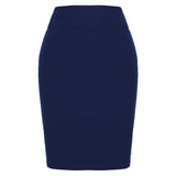 Kate Kasin Occident Women's High Stretchy Hips-Wrapped Pencil Skirt 20""