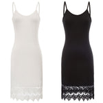 Slip dress Plain Solid Comfy Lace Hem Camisole Undergarment Ladies Sleeveless