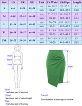 Kate Kasin Women's Solid Color Asymmetrical Wrap Front Stretchy Bodycon Pencil Skirt