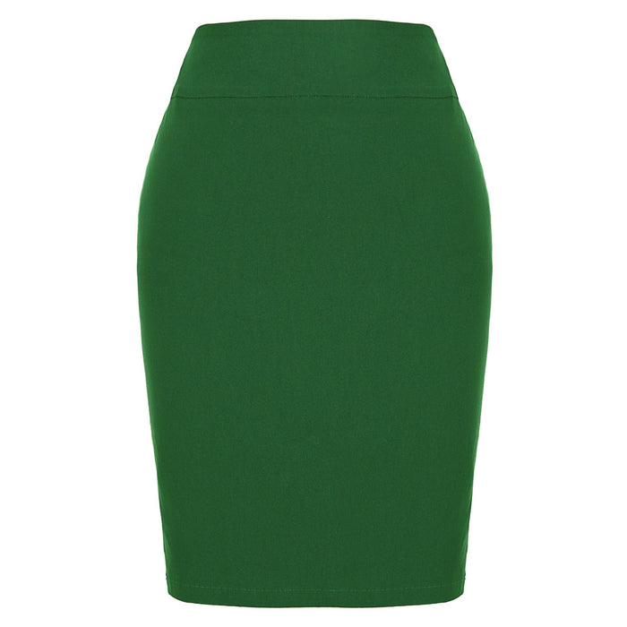 Womens High Waist Stretchy Elastic Pencil Skirt Short Mini Dress Tight Fitting