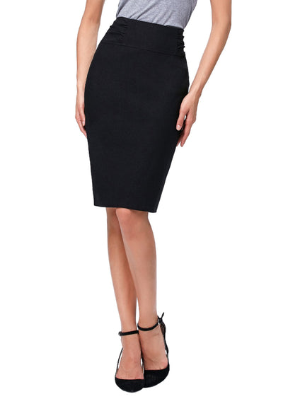 Back Split Design Women's OL High Stretchy Hips-Wrapped Pencil Skirt 24""