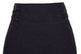KK Ladies Stretchy High Waist Shirred Waist Detail Hips-Wrapped Pencil Skirt  ~