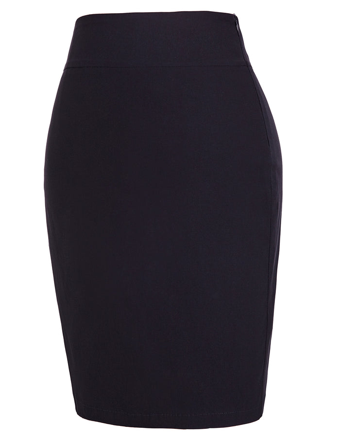 Kate Kasin Occident Women's High Stretchy Hips-Wrapped Pencil Skirt 20