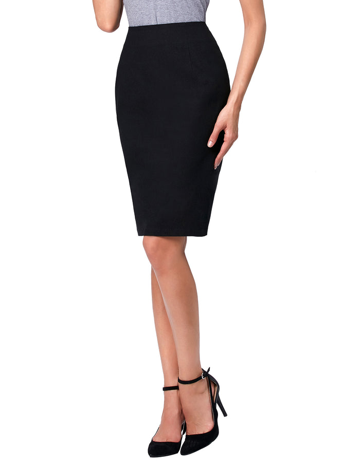 Kate Kasin Occident Women's OL High Stretchy Hips-Wrapped Pencil Skirt 24