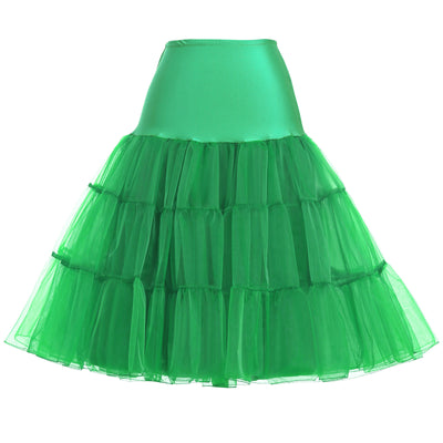 Kk Women's Vintage Dress Crinoline Petticoat Underskirt Tulle High Waist Skirts