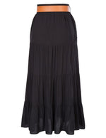 Women's Summer Boho High Waist Pleated A-line Casual Beach Long Skirt Belted