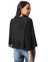 Women Chiffon Kimono Beach Cardigan See Though Plain Jacket Cover Up Summer Wear