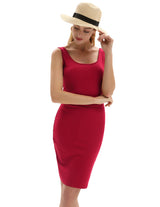 Kate Kasin Women Sexy Slim Bodycon Dress Knee Length Pencil Skirt Summer Casual