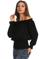 PLUS SIZE KK Women Ruffles Gothic Tops Rayon Steampunk Off Shoulder Shirt Blouse
