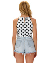 KK Sexy Women's Vintage Retro Summer Sleeveless Cropped Halter Tops