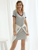 Loungewear Dress Bodycon Plain Solid Womens Ladies Short sleeve Hips-wrapped