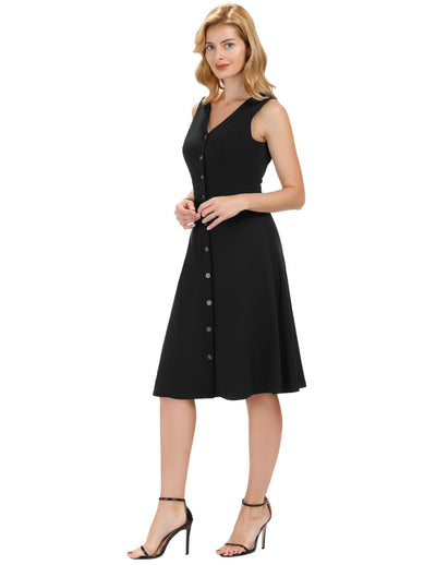 Sleeveless Dress Sexy Womens Button Down Casual Party Cocktail Wear Kate Kasin