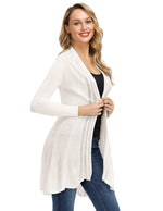 Kate Kasin Women's Lightweight Knitwear Cardigan Thin Coat Long Sleeve Hollowed out