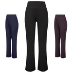 Women's Slim High Waist Flared Bell Bottom Straight Leg Long Pants Trousers Size