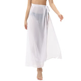 Kate Kasin Women's Chiffon Cover-up Strapless Dress/Skirt Two-Way Tie Closure Beach