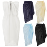 Women Large Chiffon Swimwear Shawl/Scarf/Beach Cover-Up/Wrap/Kaftan/Sarong Skirt