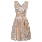 Sexy Sequin Deep V-neck Bodycon Party Prom Evening Ball Gowns Dress Kate Kasin