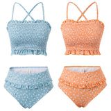 Kate Kasin Women's 2pcs Set Swimwear Swimsuit Spaghetti Straps/Strapless Tops+Briefs