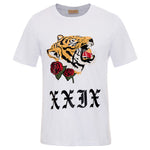 Mens Shirt Animal Print Tops Crew Neck Clothing TShirt  Summer Blouse Basic Tee