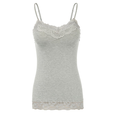 Kate Kasin Sexy Women's Comfy Spaghetti Straps Lace Trimmed Rayon Camisole Cami Tops