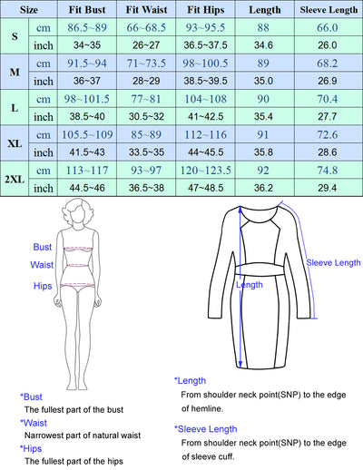 Kate Kasin Women's Knitted Bodycon Dress Long Sleeve Surplice V-Neck V-Back Hips-Wrapped