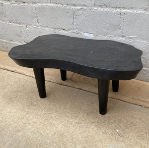 Coffee Table Free Form Suar Wood Black