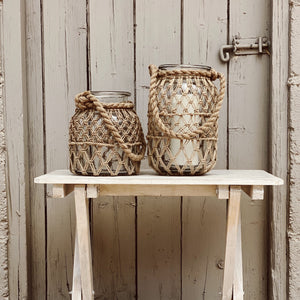 Candle Holder Jute Weave