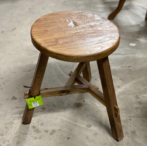 Stool Table Recycled Wood Round