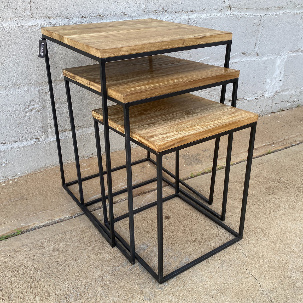 Side Table Set 3 Nesting Square