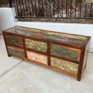 Console 6 Drawer Boatwood