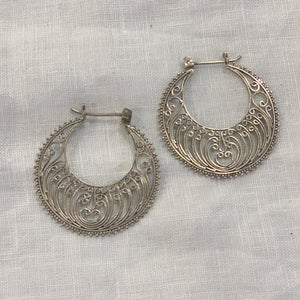 Earring Filigree Hoop