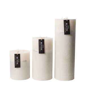 Candle Rustic Grey Pillar