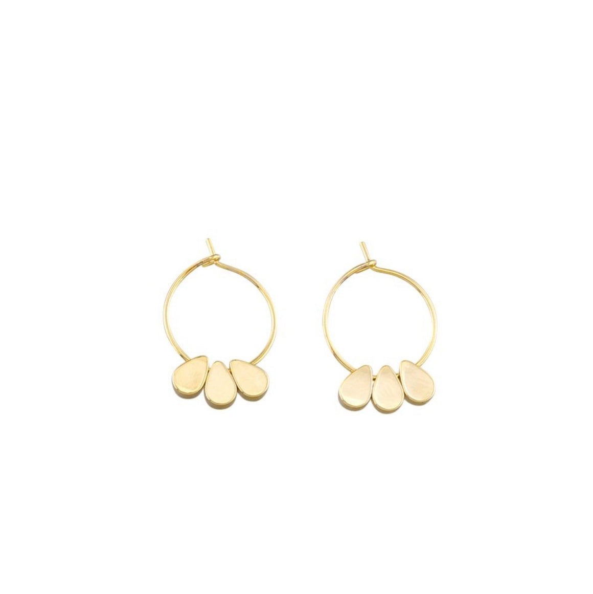 Earring Trio Tear Mini Hoops