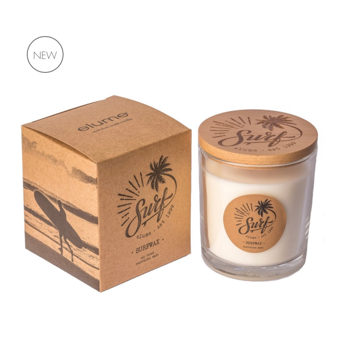 Candle Soy Jar Surf