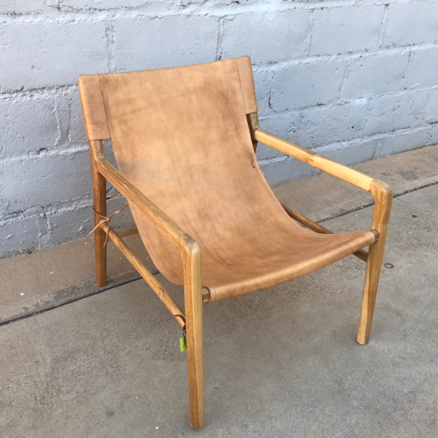 Chair Leather Sling Tan