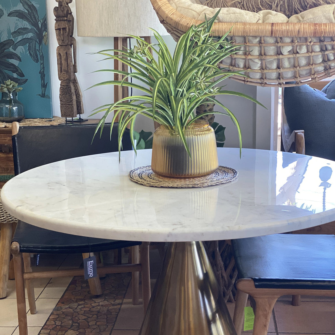 Dining Table Round Marble Top