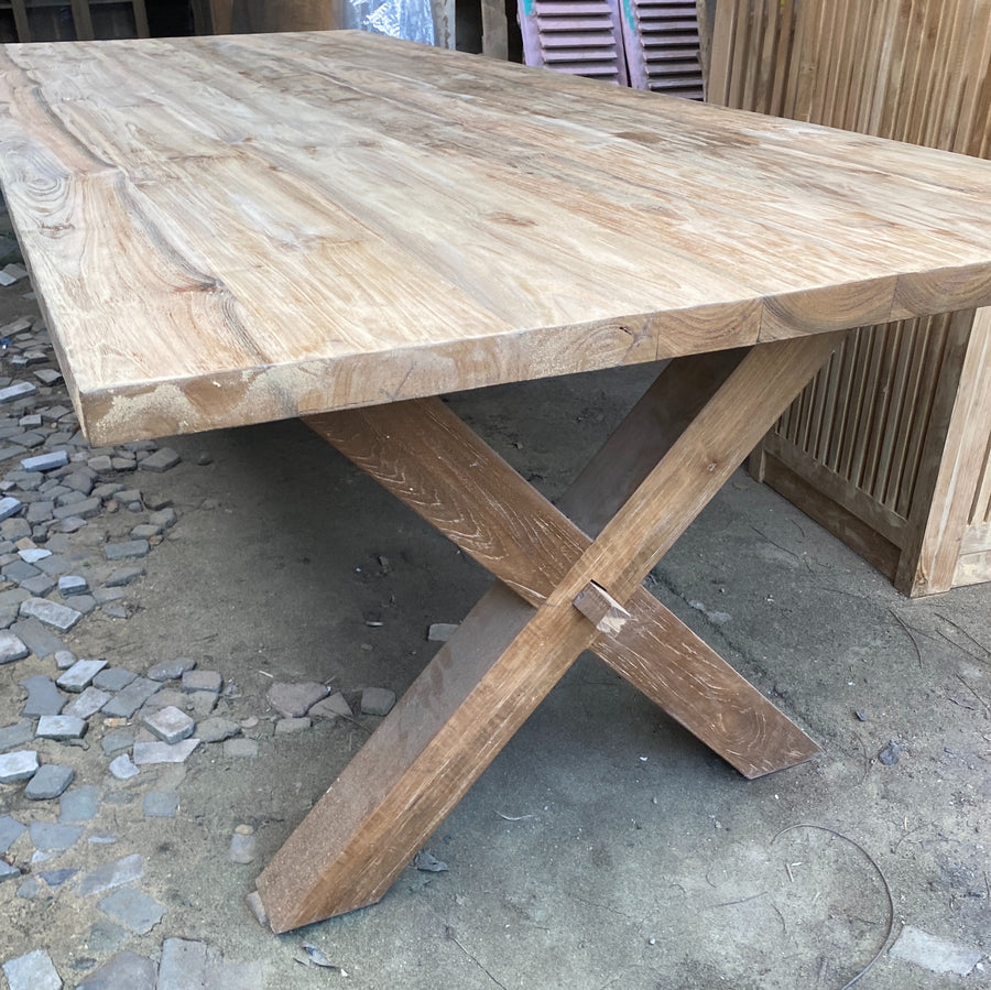 Dining Table Recycled Teakwood 250x110x5cm