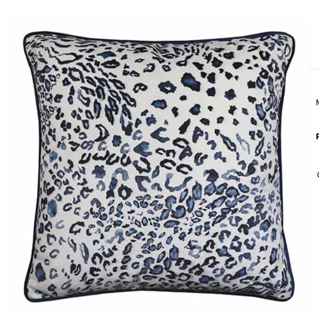 Cushion Blue Leopard $69.95 SALE