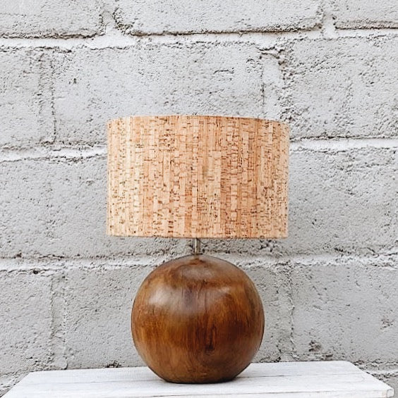 Lamp Wood Bowler Round