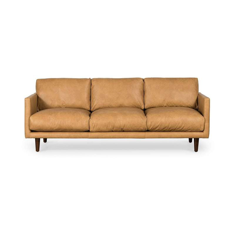 Lounge Sofa Carlson 3 Seater Tan Leather