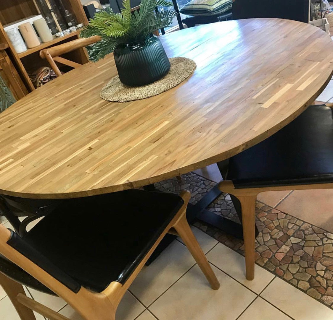 Dining Table Modern Round Mosaic Top