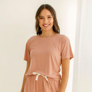 Bamboo Tee Harriet Coral