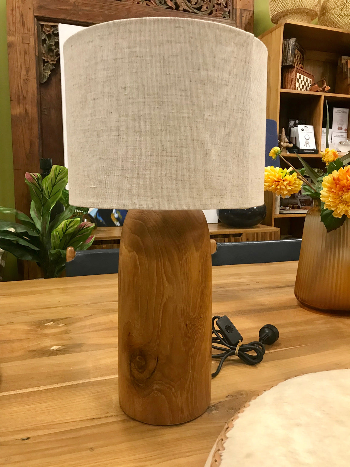 Lamp Wood Rounded Top