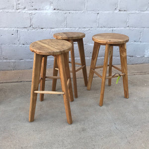 Bar Stool Recycled Teakwood II